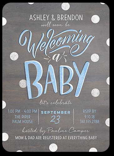 Amazing Type Boy 5x7 Baby Shower Invitation Cards