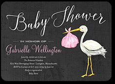 766b7fd9071 precious delivery girl baby shower invitation