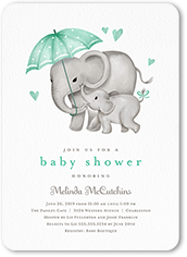 joining the herd baby shower invitation
