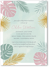 whimsical floral baby shower invitation