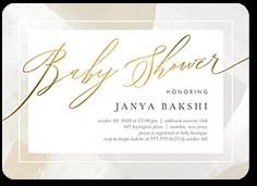 ritzy rain baby shower invitation