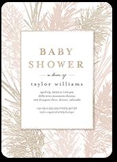 gentle forest baby shower invitation