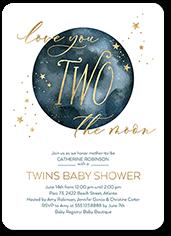 moonlight baby shower invitation
