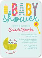 cute cradle twins baby shower invitation 5x7 flat