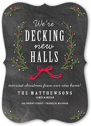 Company christmas cards shutterfly decking the new halls moving announcement m4hsunfo