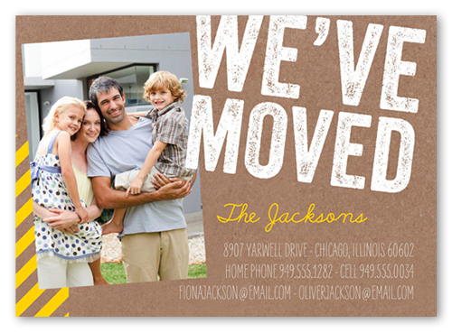 We Ve Moved Stamp 5x7 Moving Announcements Shutterfly
