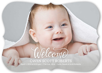 perfect welcome birth announcement 5x7 flat