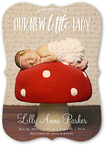 New Little Lady Birth Announcement