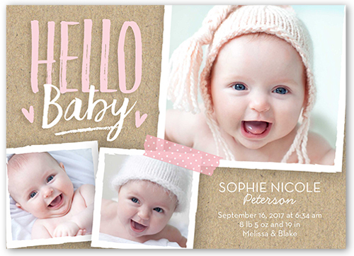 Christmas Birth Announcements Baby Announcements – Holiday Birth Announcements