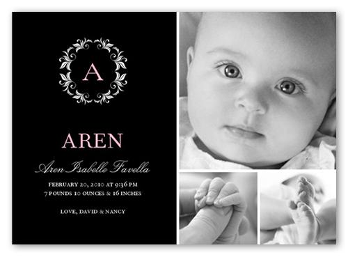 Park Avenue Birth Announcement