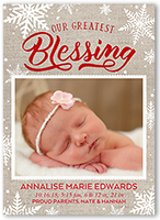 bundle of blessings birth announcement 5x7 flat