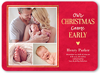 early christmas birth announcement 5x7 flat