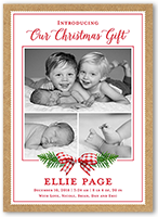 our little gift birth announcement 5x7 flat