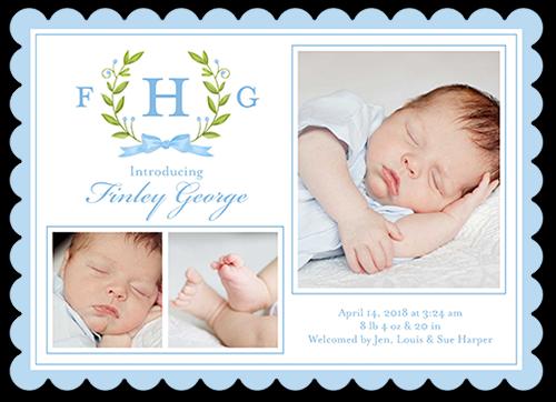 Newborn Laurels Boy Birth Announcement