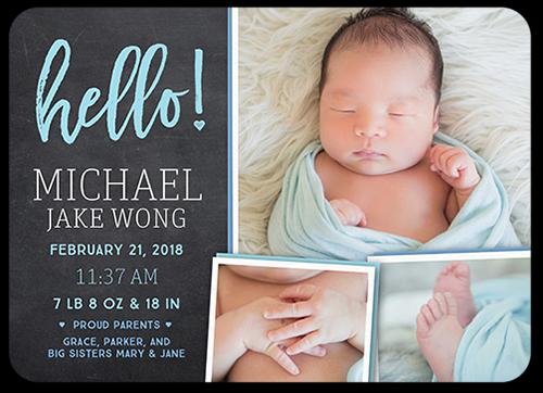 Hello Arrival Boy Birth Announcement