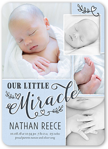 Newborn Miracle Boy Birth Announcement