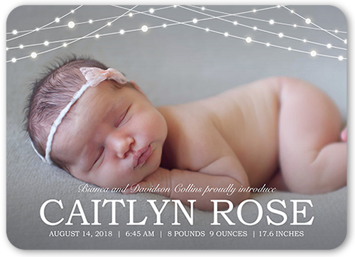 Bokeh Lights Birth Announcement