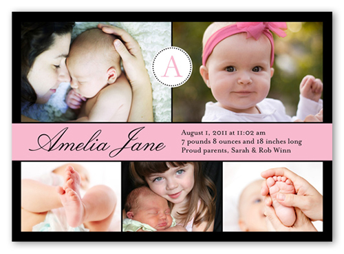 All Around Girl Birth Announcement