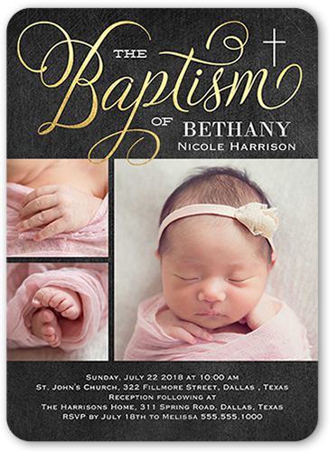 Special Christening 5x7 Stationery Card By Stacy Claire Boyd