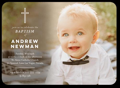 Delightful Blessings Baptism Invitation