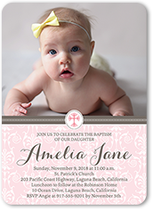 Baptism Invitations Christening Invitations Shutterfly - Birthday invitation and christening