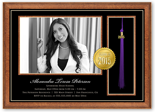 Framed Diploma Graduation Invitation by Yours Truly