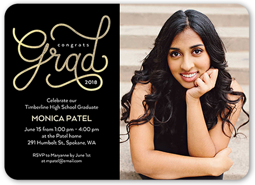 big script grad 5x7 graduation party invitations shutterfly