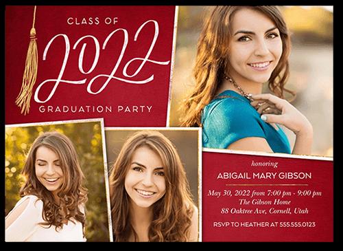 Extraordinary Tassel 5x7 Graduation Party Invitation