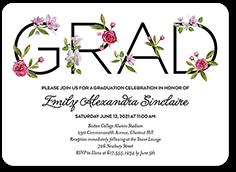 elegant alumni graduation invitation 5x7 flat