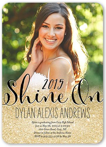 Shimmer And Shine Graduation Invitation