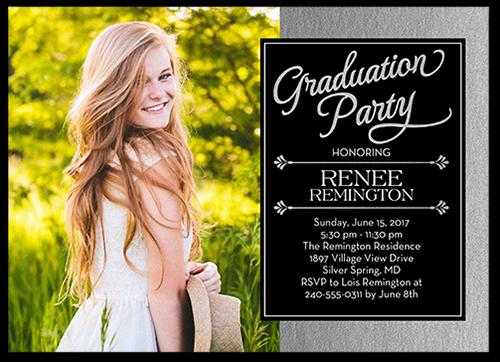 Perfect Portrayal Graduation Invitation, Square Corners