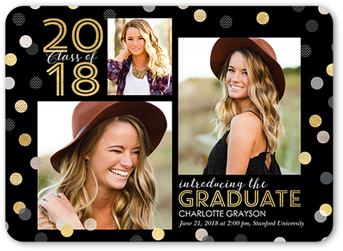 Spectacular Confetti Graduation Announcement