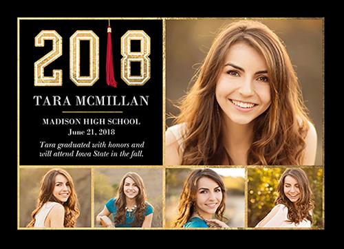 Phenomenal Tassel Graduation Announcement, Square Corners