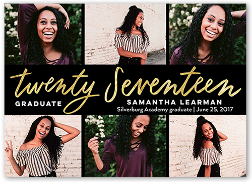 scripted banner alumni graduation announcement by clover - Tri Fold Graduation Invitations