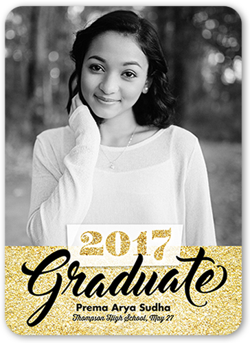 Speckled Alumni Graduation Announcement, Rounded Corners