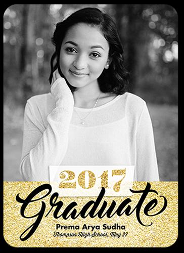 Speckled Alumni Graduation Announcement