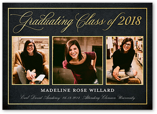 Ornate Grad Graduation Announcement