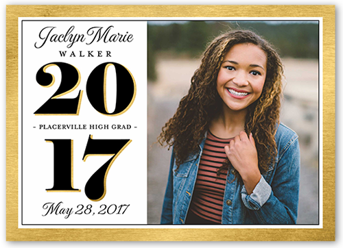Vertical Grad Frame Graduation Announcement