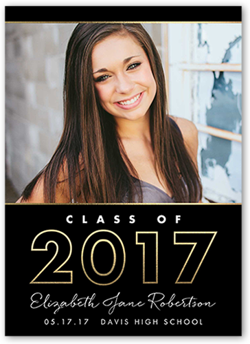 Clean Grad Year Graduation Announcement