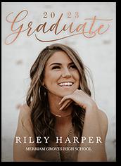 jubilant grad graduation announcement