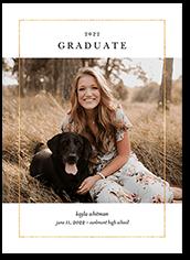 simple outline graduation announcement