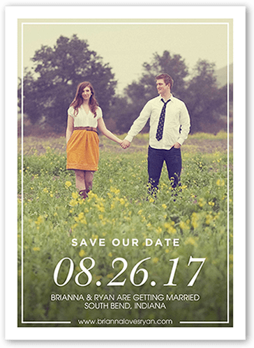 Absolutely In Love Save The Date
