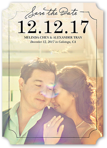 Lovely Couple Save The Date