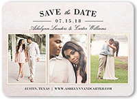 blushing bride collage save the date 5x7 flat