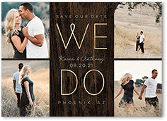 wood we do save the date