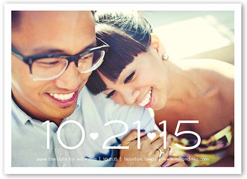 Big Date Save The Date, Square Corners
