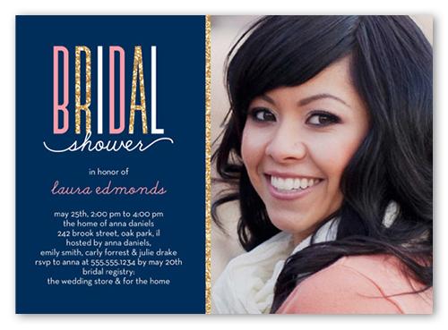 sparkling bride 5x7 bridal shower invitations shutterfly