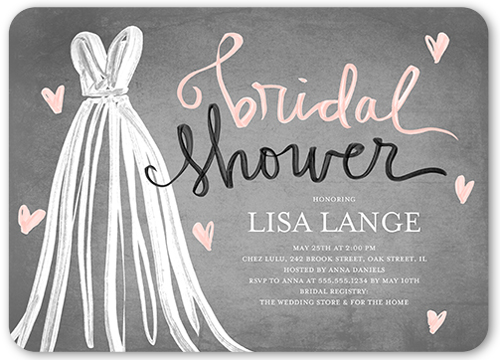 Fashionable Shower Bridal Invitation