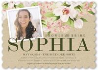 perfect floral bridal shower invitation 5x7 flat