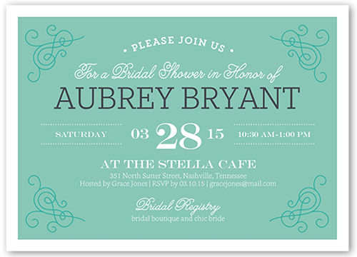 Filigree Fete 5x7 Stationery Card By Yours Truly Shutterfly